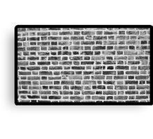 Black and white Brickwall Canvas Print