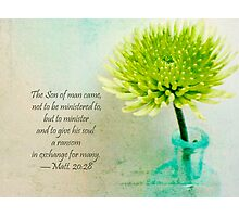 The Son of man came not to be ministered to,  Photographic Print