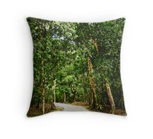 Path Into the Woods, Guatemala Throw Pillow