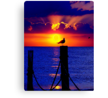 Front Row Seat At Sunset Canvas Print