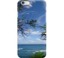 Trees and the ocean iPhone Case/Skin