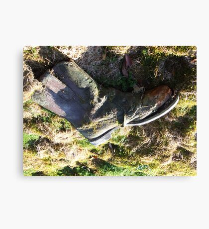 TOUGH AS old BOOTS  Canvas Print