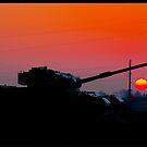 Centurion Tank Silhouette by Adam Kennedy