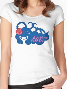 sleeping forest Women's Fitted Scoop T-Shirt