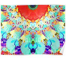 Abstract Textural Colors Poster