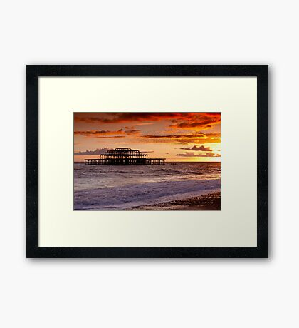 West Pier SunSet Framed Print