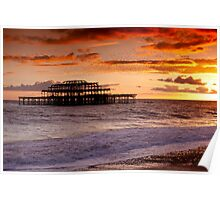 West Pier SunSet Poster