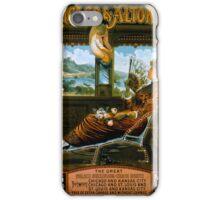 Chicago & Alton Railroad Vintage Travel Poster iPhone Case/Skin