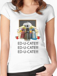 Educate not Exterminate  Women's Fitted Scoop T-Shirt