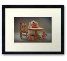 Rosie 's  first day as a real babysitter Framed Print