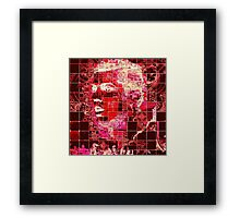 Red Ronaldo Framed Print