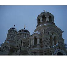 Winter in Riga Photographic Print