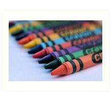 colourful crayons.. Art Print