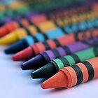 colourful crayons.. by Michelle McMahon