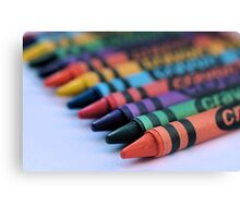 colourful crayons.. Canvas Print