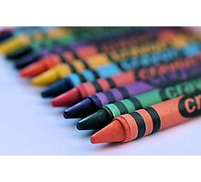 colourful crayons.. Photographic Print