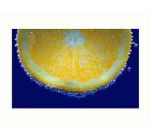 orange bubbles.. Art Print