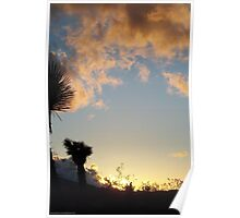 Watching A Sunset Poster