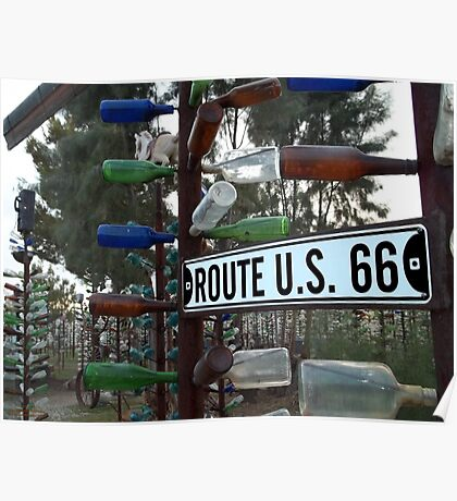 Bottle Trees Along Route 66 Poster