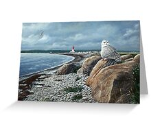 """Pubnico Lighthouse"" Greeting Card"