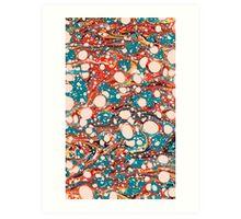 Psychedelic Marbled Paper Splash Blob Art Print