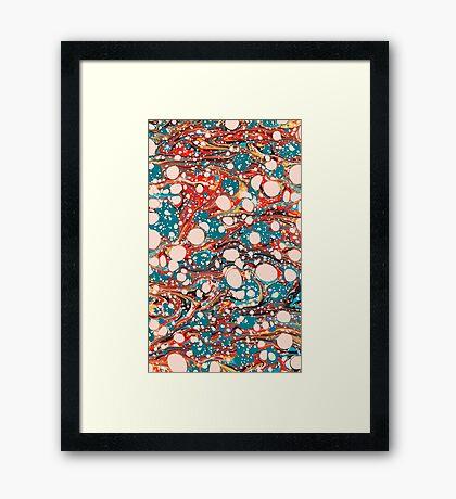 Psychedelic Marbled Paper Splash Blob Framed Print