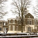 Snowing on Morgan County, KY Courthouse by Kent Nickell