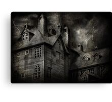Fantasy - Haunted - It was a dark and stormy night Canvas Print