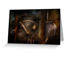Steampunk - The Control Room  Greeting Card