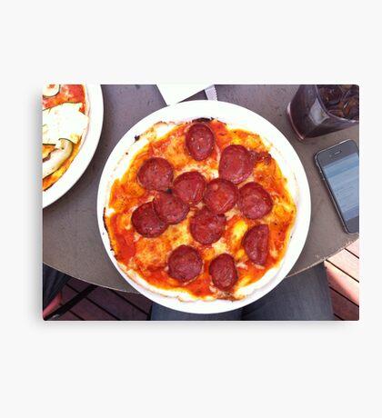 Pizza Calabrese Canvas Print