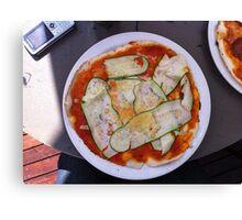 Pizza Zucchine Canvas Print