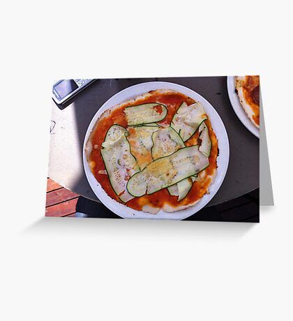 Pizza Zucchine Greeting Card