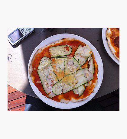 Pizza Zucchine Photographic Print