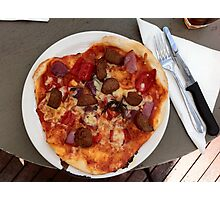 Pizza Salsiccia Festa Photographic Print