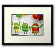 gay pride androids Framed Print