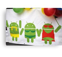 gay pride androids Canvas Print