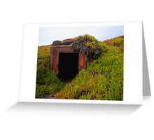 Rusting WWII Bunker Greeting Card