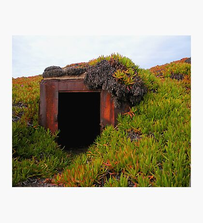 Rusting WWII Bunker Photographic Print
