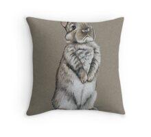 Sitting Bunny Throw Pillow