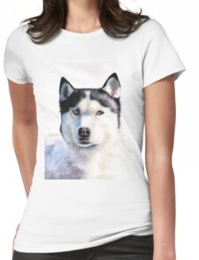 Husky Blue Womens Fitted T-Shirt