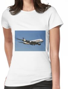 Singapore Airlines Airbus A380 Womens Fitted T-Shirt