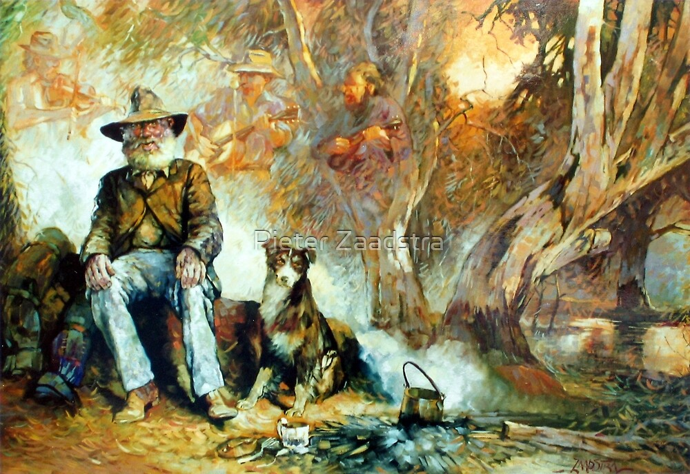 The Singing Swaggie - Waltzing Matilda Series by Pieter  Zaadstra