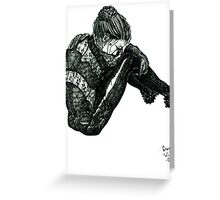 Vigilant [Pen Drawn Figure Illustration] Greeting Card