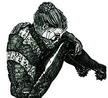 Vigilant [Pen Drawn Figure Illustration] by Grant Wilson