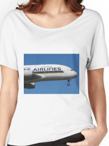 Singapore Airlines Airbus A380 Women's Relaxed Fit T-Shirt