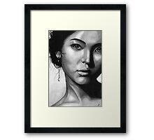 Song Hye Kyo Black and white Framed Print