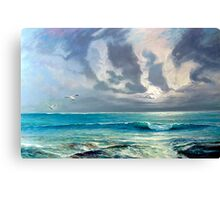 Blue-Grey Sky Rollers - South Eastern South Australia Canvas Print