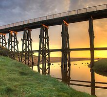 Kilcunda Trestle Bridge long shot by Philip Greenwood