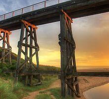Kilcunda Trestle Bridge close up by Philip Greenwood