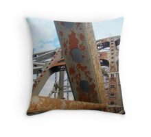 Sitting In Traffic on The Huey P. Long Bridge (View in a Larger  Size for better details) Throw Pillow